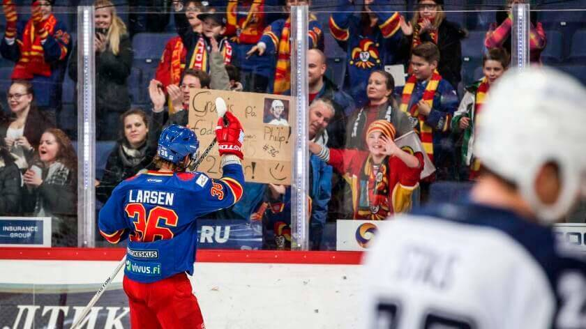 Philip Larsen #36 of the Helsing Jokerit